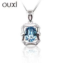 OUXI bottle shaped crystal pendant 925 sterling silver necklace manufacturer