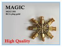 wholesale RCA plug gold connectors