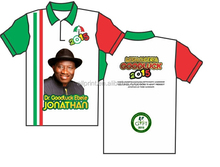 Nigeria Election campaign t shirt 2015 O-Neck and Polo Neck with Screen Print Logo & Heat transfer printing Photo