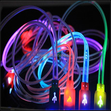 3 in 1 Micro USB LED Light Charging Cable for iPhone 4/4S 5/5C/5S Android Phone