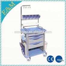 EM-NT003 Professional manufacturer ! Nursing used Medical ABS Emergency Trolley