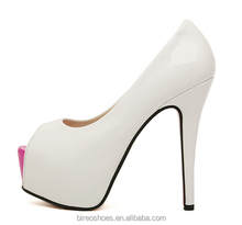 attractive style lady leather shoes high heel