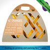 2015 creative kraft paper lemon fruit packaging box with handle