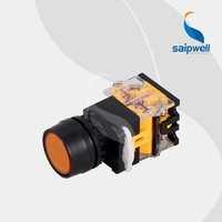 Saip/Saipwell Electrical Push Button Switch New Made in China 22mm 12V 24V Waterproof Momentary High Cap Push Button Switch