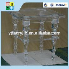 Alta calidad personalizado acrílico mesitas / simple diseño caliente de la venta acrílico mesa lateral de China
