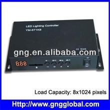 Programmable dmx led controller with 8 dmx512 port