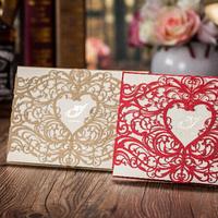 New design Brand new groom and bride invitation card