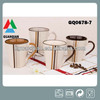 Zibo 310ml ceramics mug with handpaint and color handle for cheap sales
