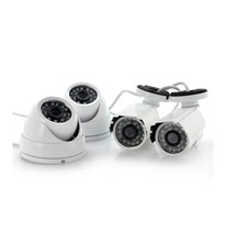Cheap Price 600 tvl Cam & Network DVR Security Kit CCTV Camera 4 Channel Set