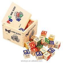 Top Sale 48pcs Building Blocks Wooden Alphabet Blocks
