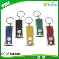 Personalised Rectangular Slimlight Led Torch Keyrings