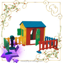 High quality plastic play games house two seats plastic toy house