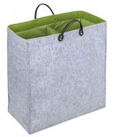 Double sorted felt storage laundry bag