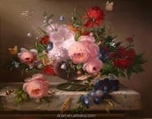Eye-pleasing aesthetic flower still life oil painting on sale