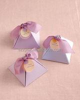 printed pyramid small paper box