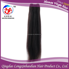 2015 Natural Color Glossy Restyle Micro Loop Hair Weaving, Brazilian Straight Hair Weave, Micro Ring Hair Weave