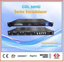 Customized cheap catv headend AV to dvb-t converter ,mpeg2 2cvbs/4cvbs to dvbt modulator COL5011U