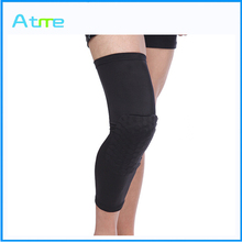Crashproof Antislip Basketball Leg Knee Long Sleeve Honeycomb Pad Protector Gear