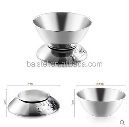 5 kg * 1g Digital de Medição Balança de Cozinha Tigela