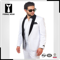 2015 newest style slim fitting men's wedding suits white