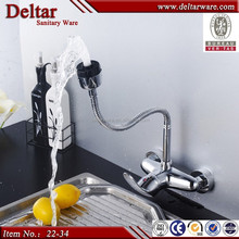 Family Wall Mounted Kichen Faucet,2-Way Flexible Hose Kichen Mixer Tap