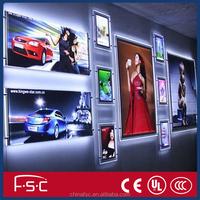 Super bright 12mm led crystal light frame for picture or photo frame