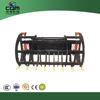 Skid steer attachment wood grapple fork