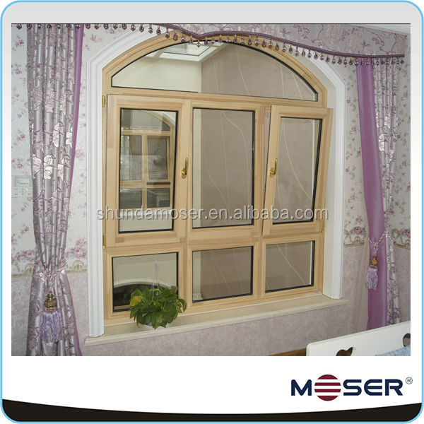 German style timber window in white color with decorative for Window in german