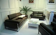 Brand new light blue leather sofa made in China