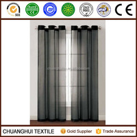 2*140*225 Sheer Curtain Window Curtains eyelet Voile black color