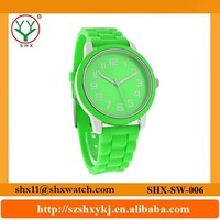 Professional factory produce colorful silicone wristband watch