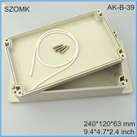 240*120*63mm IP68 waterproof enclosure and plastic waterproof box as project box and switch box for pcb and electronics in China