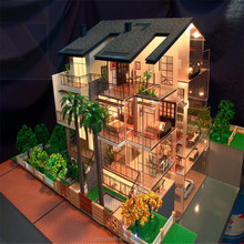 Good-Feedback Vivid Detached House Model with Customerized Architecture Design