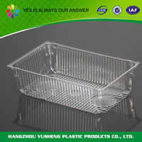 Accept custom order disposable fruit and vegetable tray