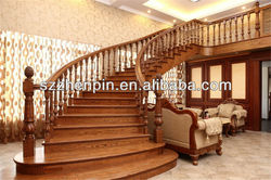 luxury solid wood stair,staircase, stairway, staircase railing