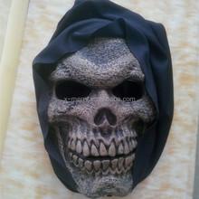 Evil demon cosplay hooded skeleton mask Rio de Janeiro Carnival