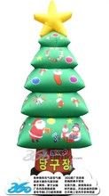 HD Digital Printing 3D cartoon Christmas tree box Inflatables