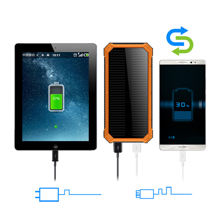 Dustproof 12000mah solar power bank