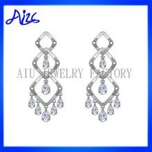 lovely custom long earrings picture 925 silver