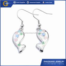ERE0036 chile popular cute enamel stainless steel earrings