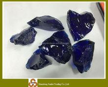 garden decoration cobalt blue glass rocks