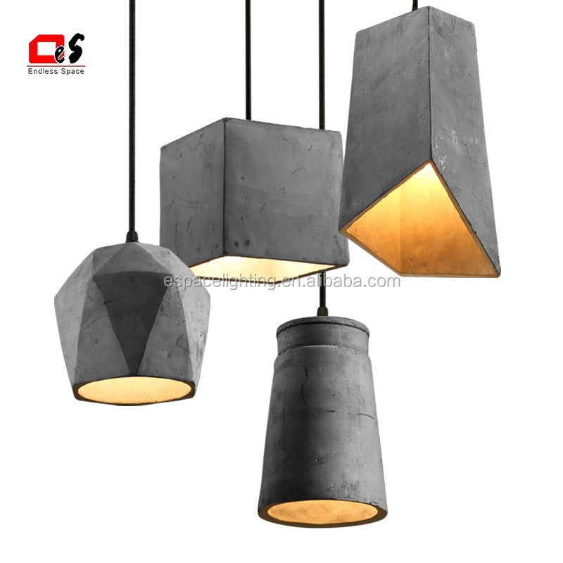 Industrial Cement Lamp Shade Ceiling Lamp/ Concrete
