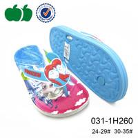 2015 summer beach soft flip flop children frozen printed pu flip flop