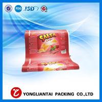 Cutom printing plastic laminated potato chips packaging material