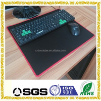Fancy overlocked custom computer keyboard mouse pad mats