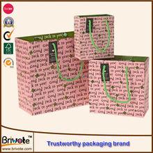 custom printed paper bags/brand paper shopping bags/luxury custom made famous brand paper shopping bags