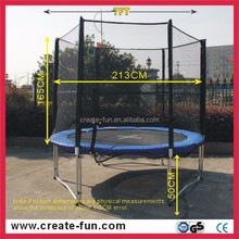 CreateFun 7ft cheap price biggest outdoor trampolines with sfety netting for kids