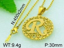 9.4g Initial R Pendant Alphabets Designs Stainless Steel Metal Pendant