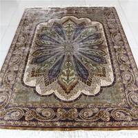 5x7.2ft Hand weaved technics and persian silk carpet roll