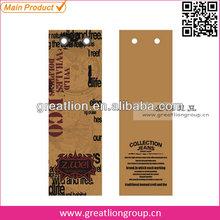 Screen printing hang tag